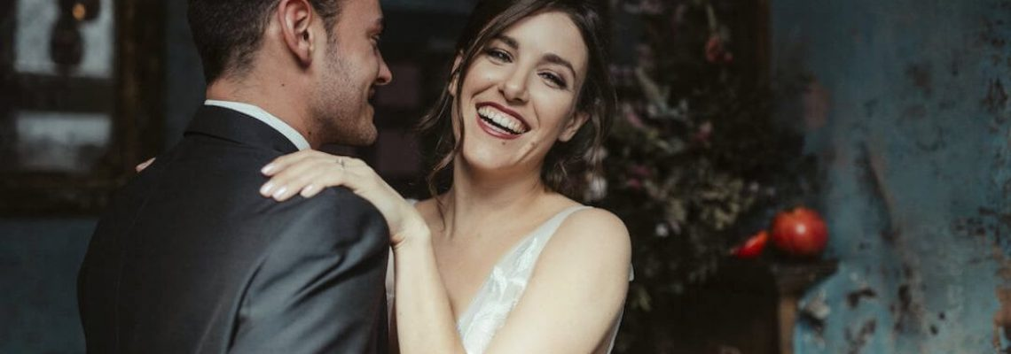 Smiling Bride and Groom - Storme Makeup and Hair